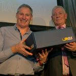 Michael Corrigan presenting the Garmin 735 X Watch sponsored by GLS